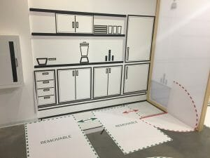 full scale diagrams of turning space in micro unit