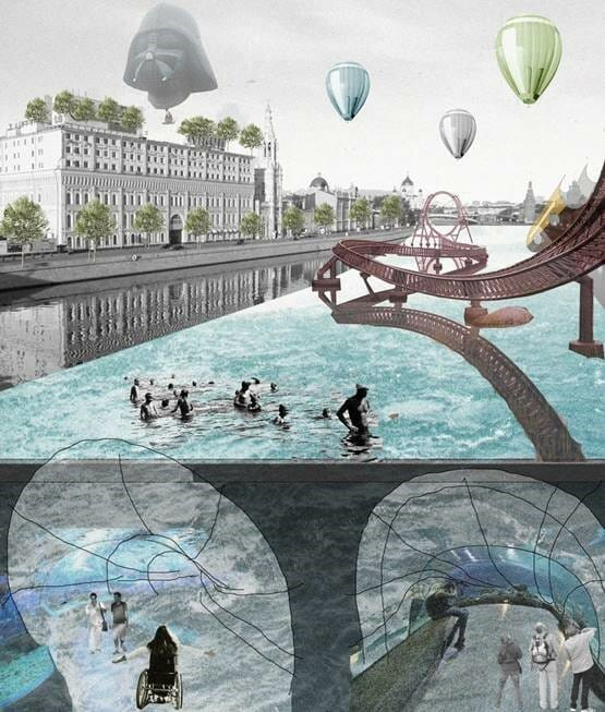 Sitemaps Renderings: Architectural Rendering Of An Accessible Waterway