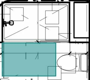 architectural floor plan layout of bathroom