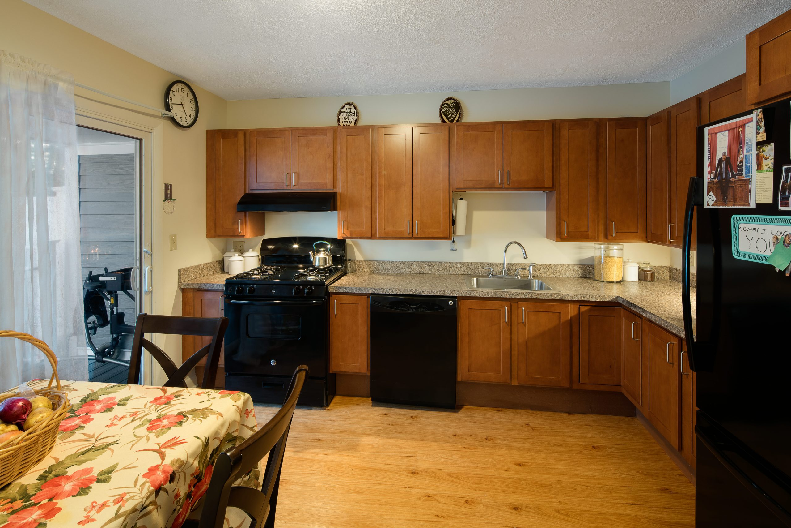 accessible kitchen with removable cabinets