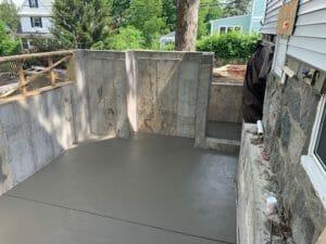 image of freshly poured concrete floor